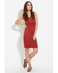 Forever 21 - Ponte Knit Bodycon Dress - Lyst