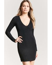 Forever 21 - Metallic Knit Dress - Lyst
