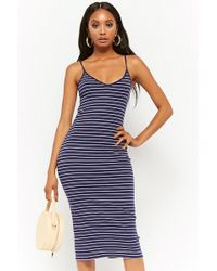 Forever 21 - Striped Cami Midi Dress - Lyst