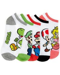 Forever 21 - Mario Graphic Ankle Socks - 5 Pack - Lyst