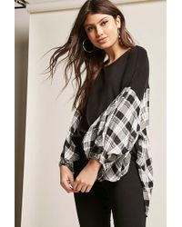 Forever 21 - Oversized Check-panel Top - Lyst