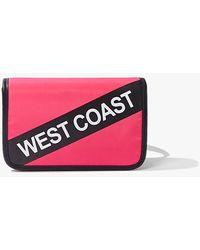 Forever 21 West Coast Graphic Belt Bag - Pink