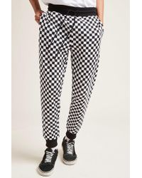 Forever 21 - Checkered French Terry Joggers - Lyst