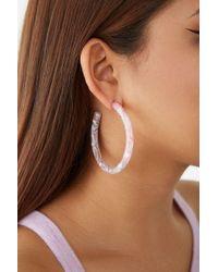 125e0c9de Forever 21 Feminista Graphic Hoop Earrings in Metallic - Lyst