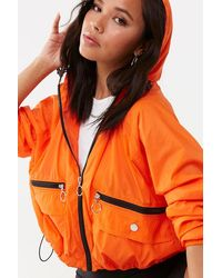 save off 9556c 3325d Forever 21 Synthetic New England Patriots Anorak in Red/Blue ...
