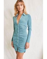Forever 21 Ribbed Knit Mini Dress - Grey