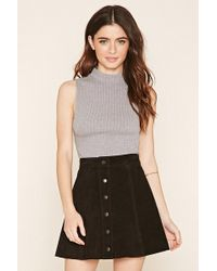 Forever 21 - Cable Knit Crop Top - Lyst