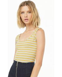 Forever 21 Striped Cami Bodysuit in Blue - Lyst f03b09882