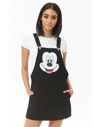 Forever 21 - Mickey Mouse Dungaree Dress - Lyst