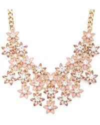 Forever 21 - Women's Faux Gem Flower Bib Necklace - Lyst