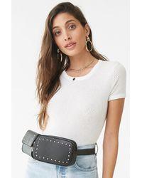 Forever 21 Studded Faux Leather Belt Bag , Black