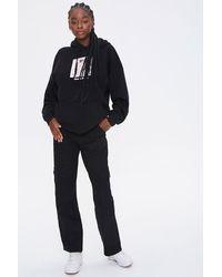Forever 21 Denim Cargo Pants - Black