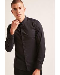 Forever 21 | Buttoned Curved Hem Shirt | Lyst