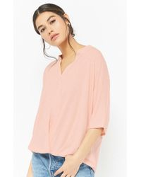 Forever 21 - Split-neck Top - Lyst