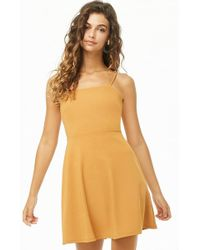 0001f4c15fdf Forever 21 Metallic Fit & Flare Dress in Pink - Lyst