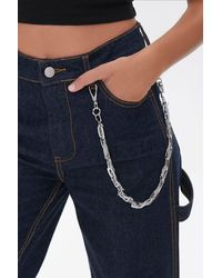Forever 21 Twisted Layered Wallet Chain - Metallic