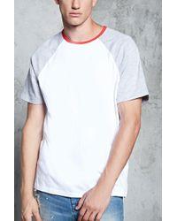 's Short-sleeve Baseball Tee Shirt - White