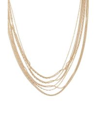 Forever 21 - Layered Bead Chain Necklace , Gold - Lyst