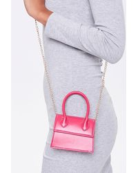 Forever 21 Top Handle Crossbody Bag In Pink
