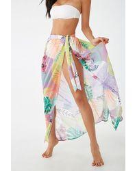2b34dcb626 Forever 21 - Kulani Kunis Floral Swim Cover-up Skirt - Lyst