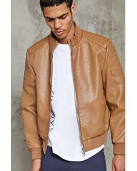 Forever 21 's Ribbed High-neck Bomber Jacket - Multicolor