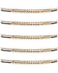 Forever 21 - Ball Chain & Thread Bracelet Set - Lyst