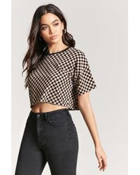 Forever 21 - Checkered Crop Top - Lyst
