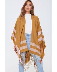 Forever 21 Fringe-trim Striped Shawl - Multicolor