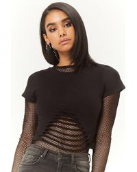 Forever 21 - Ladder-cutout Crop Top - Lyst