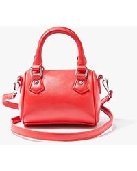 Forever 21 Convertible Zip-top Crossbody Bag - Red