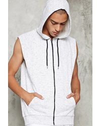 Forever 21 | Raw-cut Heathered Knit Hoodie | Lyst