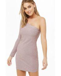 Forever 21 - Metallic Mini Dress , Pink - Lyst