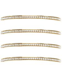 Forever 21 - Rhinestone Bangle Bracelet Set - Lyst