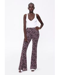 Forever 21 Floral Print Flare Pants - Multicolor