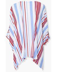 Forever 21 Striped Open-front Kimono - Multicolor