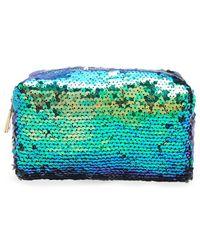 Forever 21 Sequin Makeup Bag - Blue