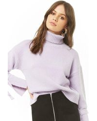 Forever 21 - Brushed Purl Knit Turtleneck Sweater - Lyst