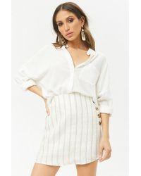 Forever 21 - Striped Linen Mini Skirt - Lyst
