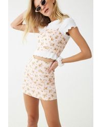 18aa3483b096a0 Forever 21 - Ditsy Floral Mini Skirt , Pink/green - Lyst