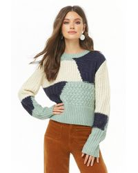 1c37ffdb794c2b Lyst - Forever 21 Contemporary Striped Sweater