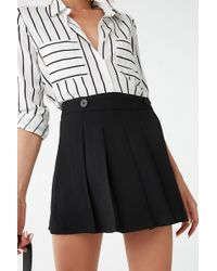 6ef3863900 Forever 21 - Pleated Wrap-front Mini Skirt - Lyst