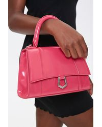 Forever 21 Structured Flap-top Satchel In Pink