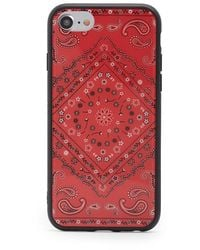 Forever 21 Bandana Print Phone Case For Iphone 6/7/8 , Red/white
