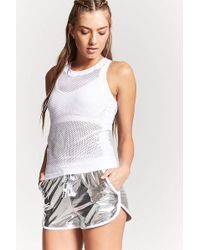 Forever 21 | Active Metallic Run Fast Shorts | Lyst