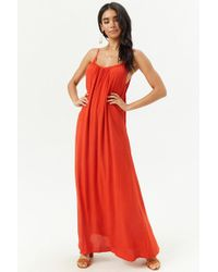 Forever 21 - Shirred Maxi Dress - Lyst