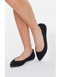 Forever 21 Pointed Slip-on Flats - Black