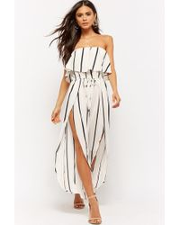 Forever 21 - Striped Flounce Jumpsuit - Lyst