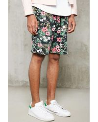 Forever 21 - Tropical Floral Knit Shorts - Lyst