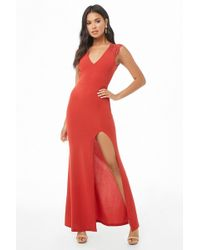 5ed935a3e6 Forever 21 Sequined Mesh Maxi Dress in Pink - Lyst