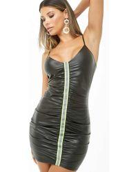 8ac8b4d964d Forever 21 - Reflective-stripe Mini Dress - Lyst